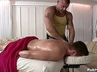 Horny Gay Daddy Gives Massage To A Man And Fucks His Asshole