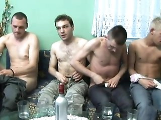 Gays Suck And Ride Each Other's Cocks In Hot Foursome Scene